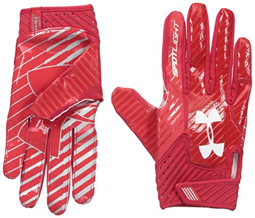 d26e64f7694 Under Armour - Spotlight Men s American Football Gloves Red  Amazon.co.uk   Sports   Outdoors