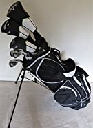 Callaway Mens Complete Golf Set - Driver, Wood, Hybrid, Irons, Putter, Deluxe Stand Bag Stiff Flex