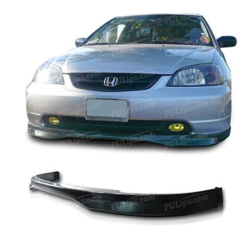 Civic Type R Front Bumper - PULIps HDCV01TRFAD - Type-R Style Front Bumper Lip For Honda Civic 2001-2003