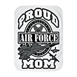 Royal Lion Baby Blanket White Proud Air Force Mom Jets