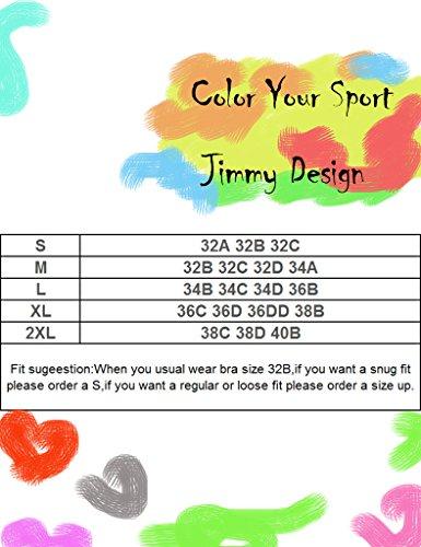 Jimmy Design Sujetador deportivo de medio impacto para mujeres, Top para running. Pixel