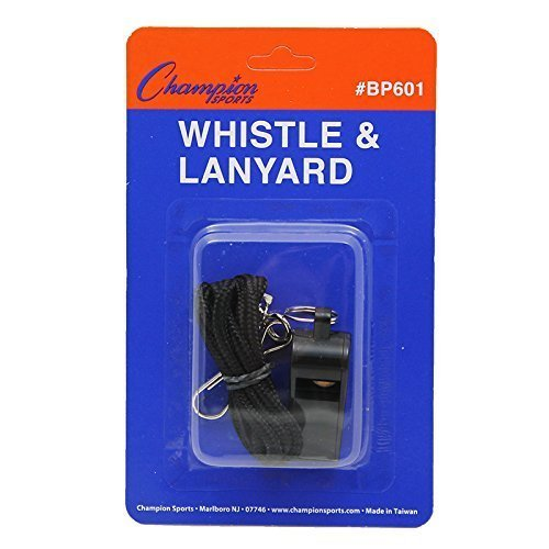 Plastic Whistle And Lanyard Toys & Games Physical Education Chsbp601 Champion Sports (Champions Lanyard)