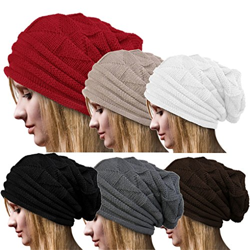 Women Hat, Haoricu Women Fashion Winter Warm Hat Girls Crochet Wool Knit Beanie Warm Caps
