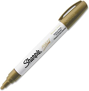 Sharpie Oil-Based Paint Marker Metallic Gold Medium Point