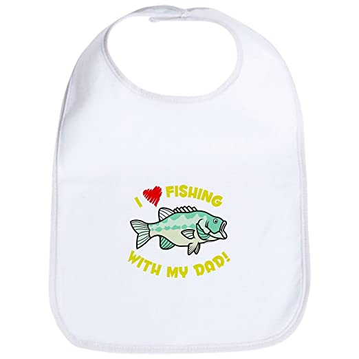 e9923012af9 Amazon.com  CafePress - I LOVE FISHING WITH MY DAD! Bib - Cute Cloth Baby  Bib