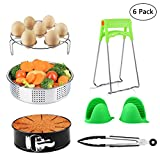 Cheap Instant Pot Accessories Set Fits 5, 6, 8 Qt Instant Pot Pressure Cooker with Steamer Basket, Egg Steamer Rack, Non-stick Springform Pan, 1 Pair Oven Mitts, Kitchen Tongs 6 Pieces