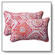 Pillow Perfect Indoor/Outdoor Summer Breeze Corded Rectangular Throw Pillow