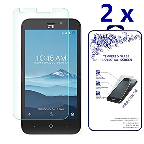 ZTE Avid Trio Z833 Screen Protector [2 Pack] - Nacodex Tempered glass Screen Protector with [Scratch-Resistant] [No-Bubble] with Lifetime Replacement Warranty