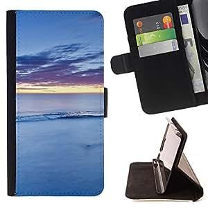 For Samsung Galaxy S5 Mini (Not S5), SM-G800 Case , Naturaleza Agua Azul- la tarjeta de Crédito Slots PU Funda de cuero Monedero caso cubierta de piel