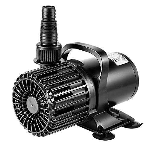 VIVOSUN 4500GPH Submersible Water Pump 220W Ultra Quiet Pump with 20.3ft Power Cord High Lift for Pond Waterfall Fish Tank Statuary Hydroponic (Large Pond Pump)