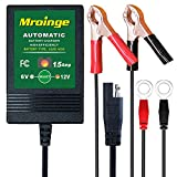 Mroinge Automatic Trickle Battery Charger Maintainer 6&12V 1500mA Automotive Smart For Car Motorcycle