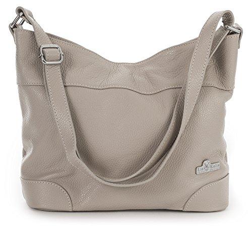 Womens Italian Hobo Medium Leather Pink Genuine Jane Handbag Size Dusty Liatalia Shoulder AqOwdEA