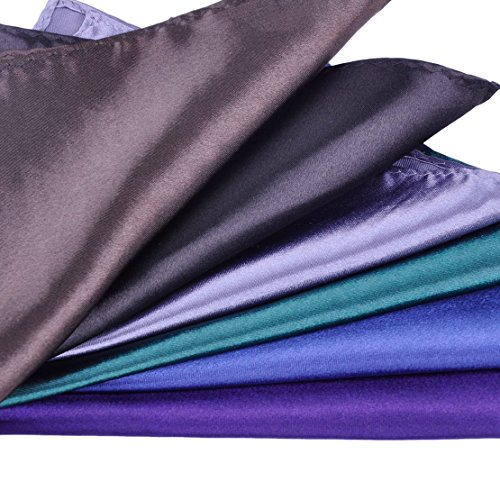 26 Pack Men's Silk Pocket Square Handkerchief Hanky Wedding Party Gift ciciTree by ciciTree (Image #5)