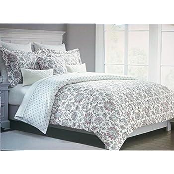 Amazon Com Tahari Bedding 3 Piece Duvet Cover Set Floral