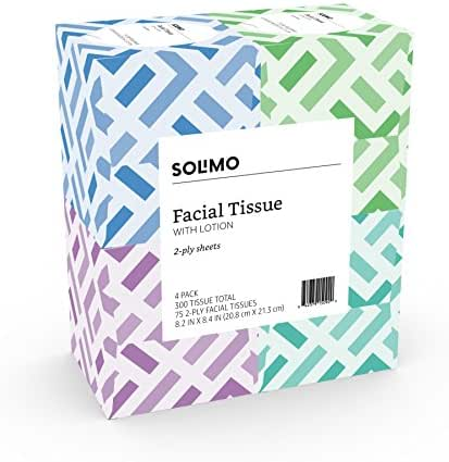 Tissues: Solimo Facial Tissue with Lotion