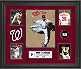 Max Scherzer Washington Nationals Framed 5-Photo Collage with a Piece of Game-Used Baseball - MLB Player Plaques and Collages