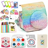 wogozan Bundles About Instax Mini 8 Accessories Includes Smear Color Camera Case for Fuji Instant Mini Camera 8/Photo Album for instax Mini 8 Film/Colored Filters/Film Frames/Selfie Lens and Others