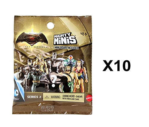 DC Comics Batman V Superman Mighty Minis Series 2 Mini Figure Blind Bags Pack of 10