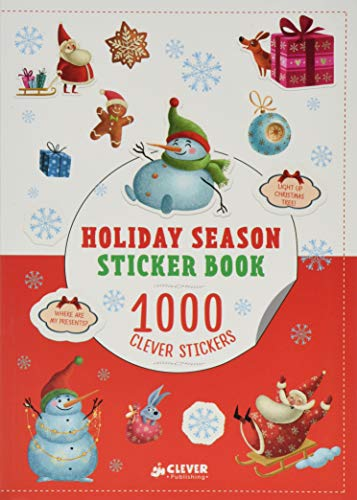 Gingerbread Man Sticker Activity - Holiday Season Sticker Book: 1000 Clever Stickers