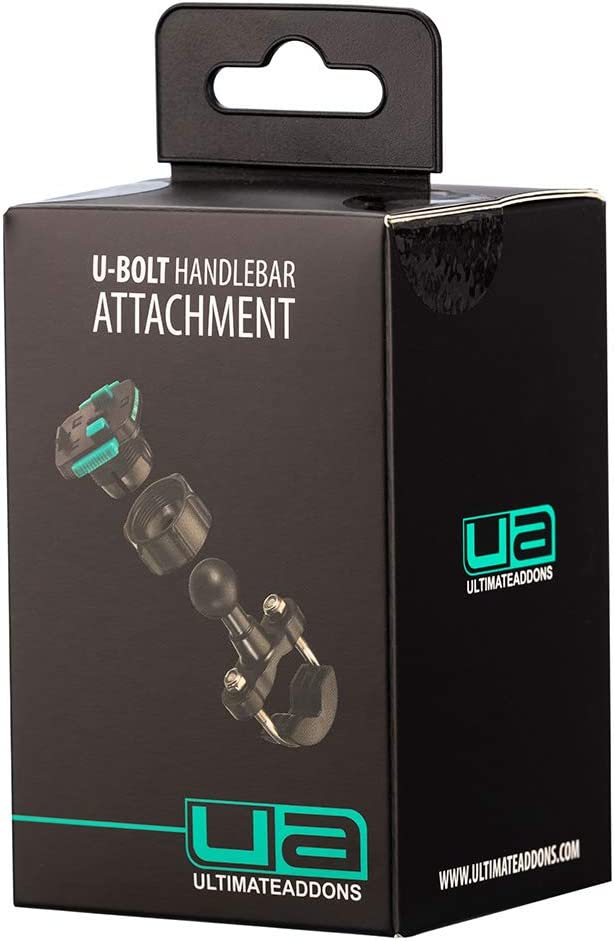 Ultimateaddons Motorcycle 16-32mm U-Bolt Handlebar Bike Mount with 3 Prong Attachment