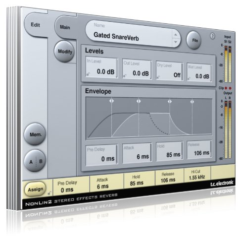 TC Electronic NonLin 2 Stereo Effects Reverb From System 6000 for Pro (Pro Tools Tdm Plug)