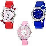 Swadesi Stuff Analogue Women's Watches(00989, Multicolour) - Combo of 3