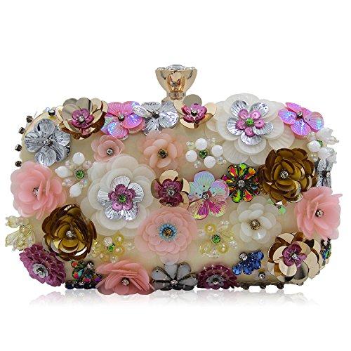 SSMK Clutch Handbag, Poschette giorno donna multicolore Multicolor