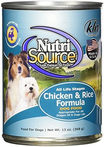 Dog Food: NutriSource All Life Stages Canned Food