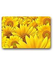 Custom Sunflower Lanscape Field Door Mats Cover Non-Slip Machine Washable Outdoor Indoor Bathroom Kitchen Decor Rug Mat