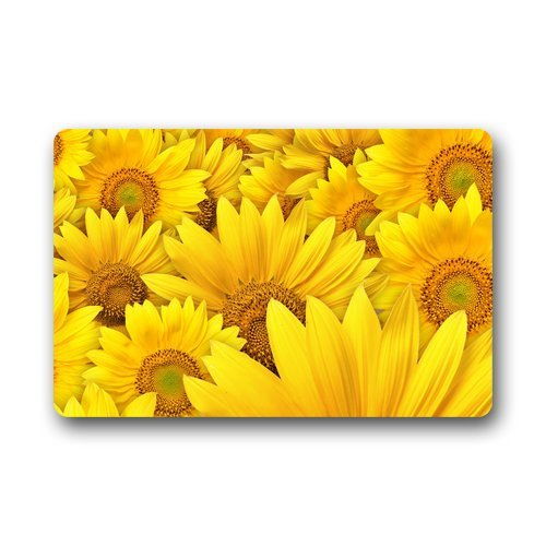 Custom Sunflower Lanscape Field Door Mats Cover Non-Slip Machine Washable Outdoor Indoor Bathroom Kitchen Decor Rug Mat Phavorest LX-ZS556-SWED