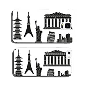 Landmark icons set great for any use. Vector EPS10. cell phone cover case Samsung S5