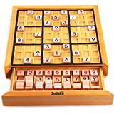 Wooden Adult Desktop Game Sudoku Puzzle Game Board Toys- With Booklet of 100 Sudoku Puzzles