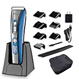 #4: Hatteker Hair Trimmer Cordless Hair Clippers For Men Beard Trimmer Haircut Kit USB Rechargeable Best Gift