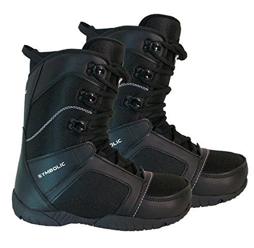 Symbolic Ultra Light Black Snowboard Boots Mens 7 8 9 10 11 12 13 14 15