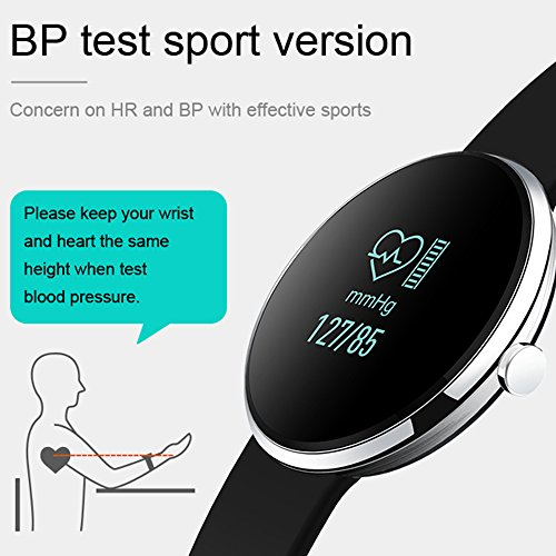 Moobibear Fitness Tracker Smart Watch, Blood Pressure Heart Rate Monitoring,Step motion meter Smart Wristbands, Christmas Birthday Gift for Mom Father Grandma Grandpa Wife Husband