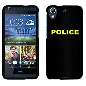 HTC Desire 626 Case, Snap On Cover by Trek Police on Black Case