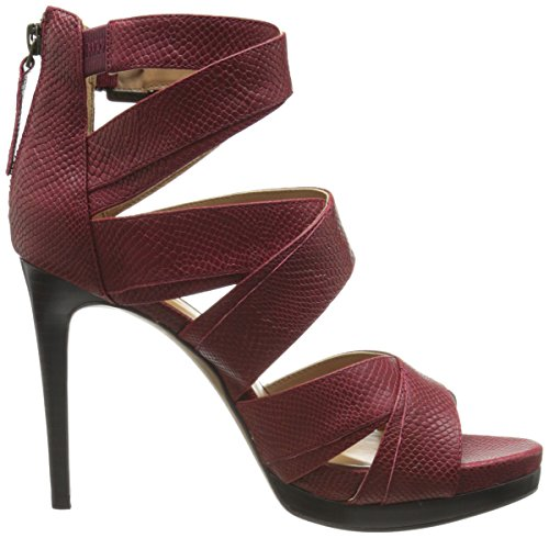 Women Nine Red Heeled Sandal Leather West Bonjorno Dark Cpgwq5pn