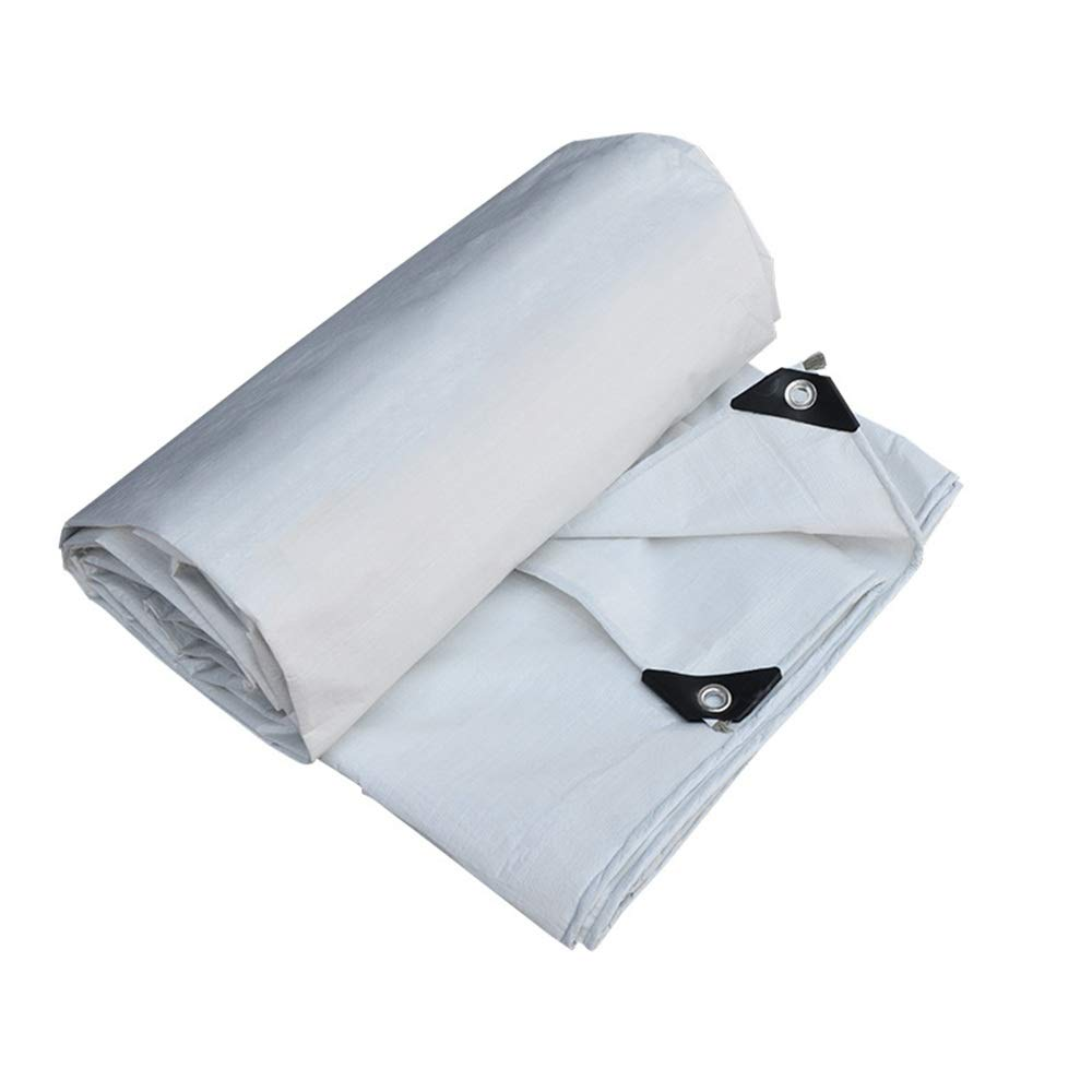3x5m BÂches ZXMEI Imperméable De Voiture De Meubles De Jardin, Aléseuse for RevêteHommest De Sol Robuste en De Prougeection (Blanc) (Taille   2x10m)