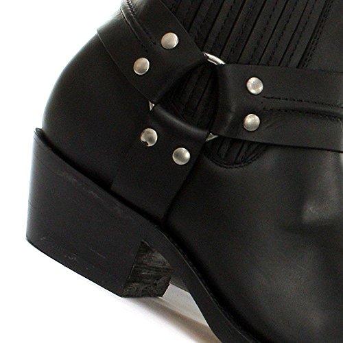 Combat Combat Cowboy Pelle Moto Pelle Lo Grinders Stivali Harness Vera Vera Vera OxHqYOF6