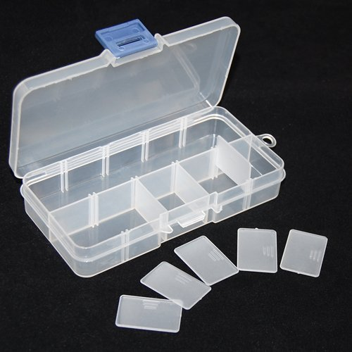 GadgetpoolUK White 10 Compartment Crafts Plastic Storage Case Box For Bead  Jewellery Findings Nail Art Craft Tool: Amazon.co.uk: Toys U0026 Games