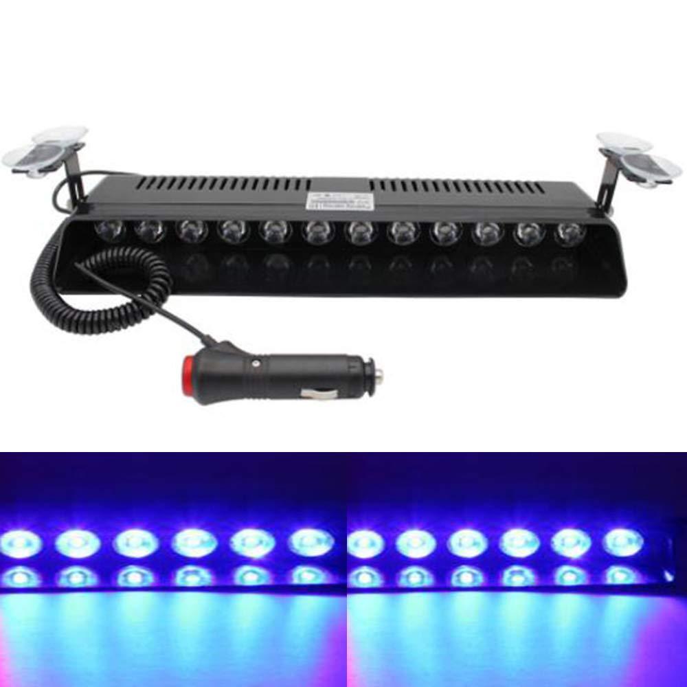 Bleu Viktion 12W 12 LEDs Feux de P/én/étration Lumi/ère Stroboscopique Eclairage Clignotant /à 13 Modes pour Voiture Camion v/éhicule SUV DC12V