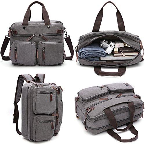 GESU Hybrid Laptop Backpack Messenger Bag Convertible Briefcase Backpack School Bookbag Rucksack For Men Women (Kids Laptop Bags)