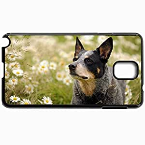 Customized Cellphone Case Back Cover For Samsung Galaxy Note 3, Protective Hardshell Case Personalized Australian Cattle Dog Black