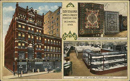 S. Davidson & Bros. - Furniture Store Des Moines, Iowa Original Vintage Postcard (Des Furniture Stores Moines)