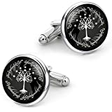 Kooer White Tree Cufflinks For Tree of Life Custom Personalized Cuff Links Wedding Cufflinks