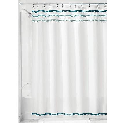 InterDesign 74614 Pom Shower Curtain 72quot X