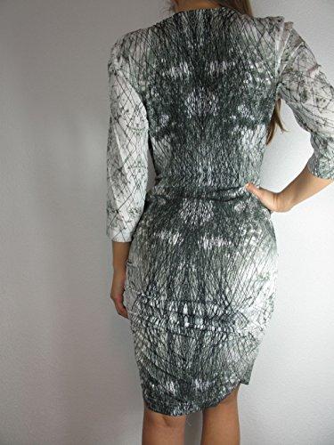 SET Damen Kleid, weiß/schwarz Größe 34 Damenmode hochwertiges Kleid NeuW103a