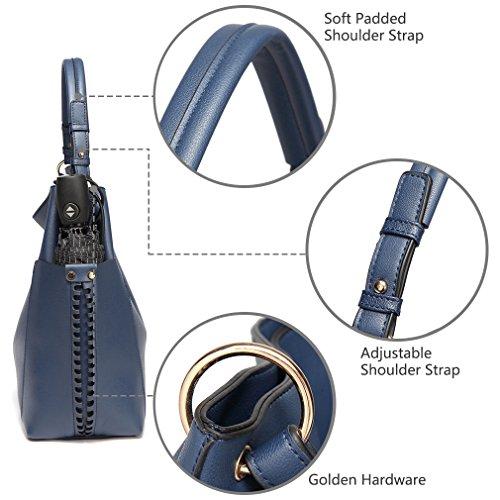 nbsp;Convertible women Blue Shopper Handbag Navy Hobo Vaschy Bag Purse Handle for Leather Tote Faux Top fw0RwqCx