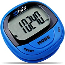 3DTriFit 3D Pedometer Activity Tracker   Best Pedometer for Walking with Pause Function & 7-Day Memory for Men & Women. Fitness Tracker Accurately Monitors Steps, Calories Burned & Distance