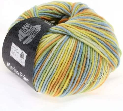 50 g Lana grossa pelote /à tricoter en laine m/érinos tr/ès fine print 787 violet-orange laine m/érinos